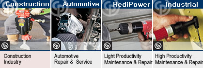 Chicago Pneumatic air tools construction, automotive, redipower, and industrial.
